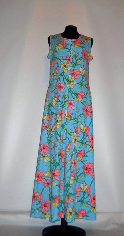 Rochie vintage maxi print floral anii '70