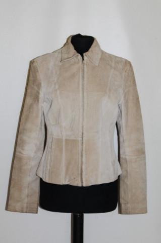 Jacheta bej din piele intoarsa anii '90
