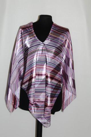 Bluza de plaja dungi violet anii '80