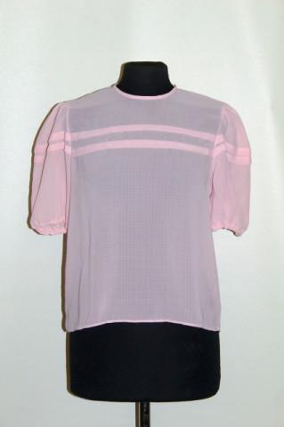 Bluză din chiffon roz anii 70