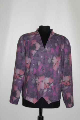 Jachetă print floral stilizat violet anii 70
