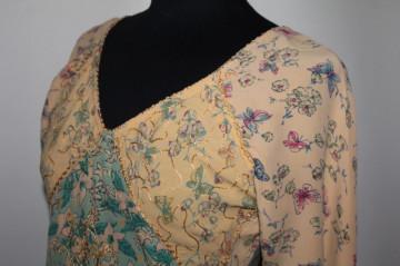 Bluza stil etnic print fluturi anii '90