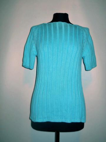 Bluza tricotata turcoaz anii '70