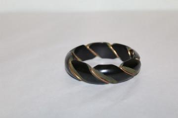 Bratara din bachelita neagra si metal anii '30