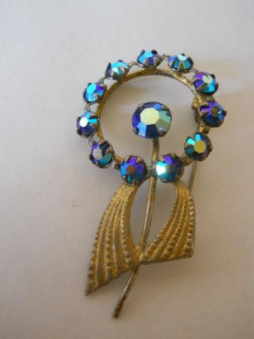 Brosa floare cristale anii '30