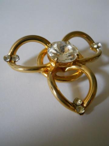 Brosa floare vintage cristale anii '70