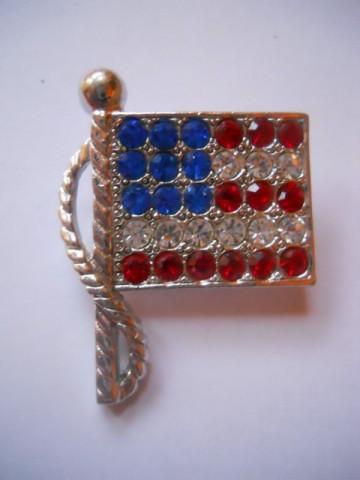 Brosa steag american anii '80