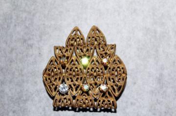 Brosa vintage coroana stilizata anii '30