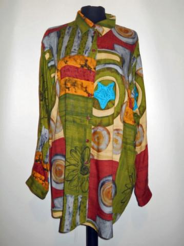 "Camas aretro print abstract """"Christine Laure"" anii '80"