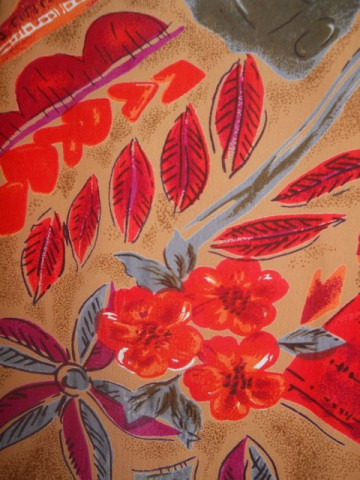 Camasa jungle print portocaliu anii '80