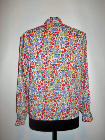 Camasa vintage  flori de camp anii '60