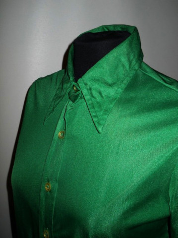Camasa vintage verde smarald anii '70