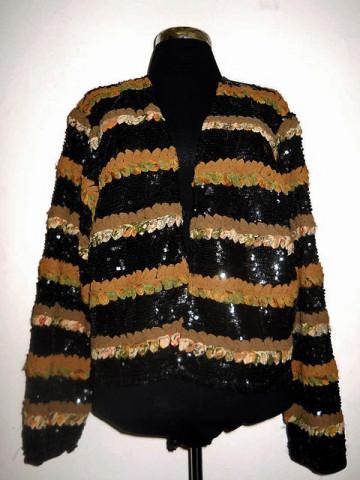 Jacheta din paiete si chiffon anii '80