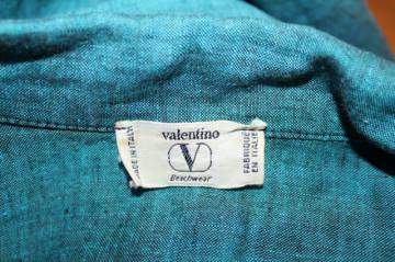 "Jacheta turcoaz ""Valentino"" anii '80"