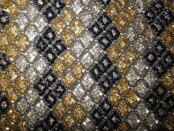 Poseta vintage de ocazie mozaic din margele anii '60