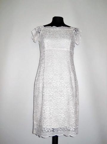 Rochie de ocazie din dantela alba repro anii '60