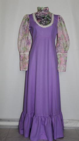 Rochie de ocazie vintage in stil victorian anii '60 - '70