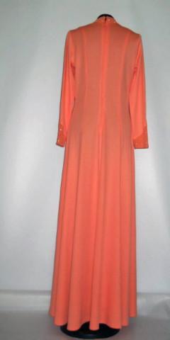 Rochie de seara vintage portocaliu piersica anii '60