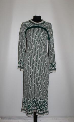Rochie din tricot model geometric anii '70
