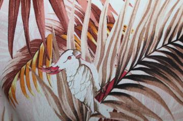 Rochie jungle print papagali anii 90
