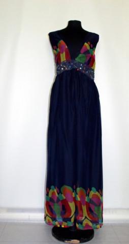 Rochie maxi buline multicolore repro anii '70