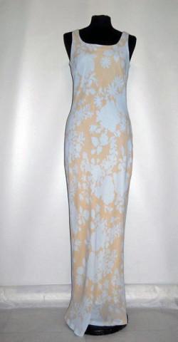 Rochie maxi din georgette bleu anii '90