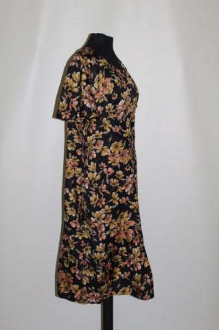 Rochie vintage flori galbene și portocalii anii 70