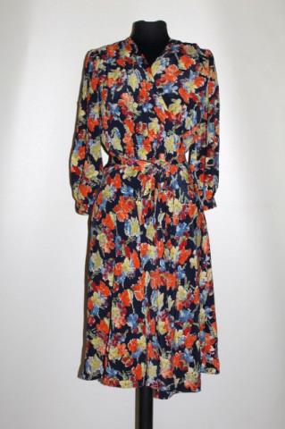 Rochie vintage print floral multicolor anii 40