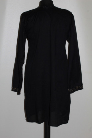Tunică neagră stil etnic repro anii 70