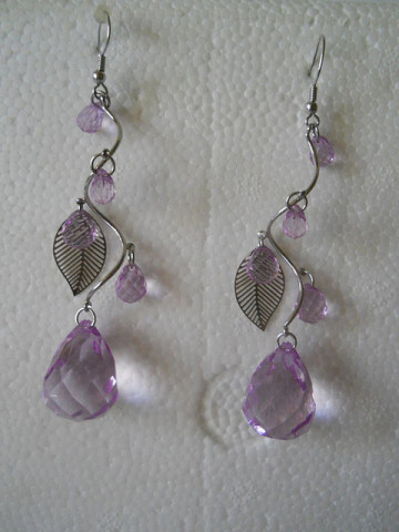 Cercei pietre lila anii '90