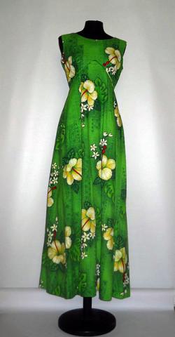 "Rochie verde ""Royal Hawaiian"" anii '60"