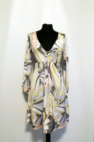 Rochie print psihedelic repro anii '70