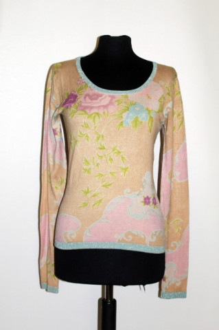 Pulover print floral pastel anii '90