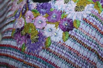 Bluză hippie din tapiserie violet anii 70