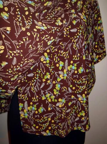 Bluza print floral pictat anii '60