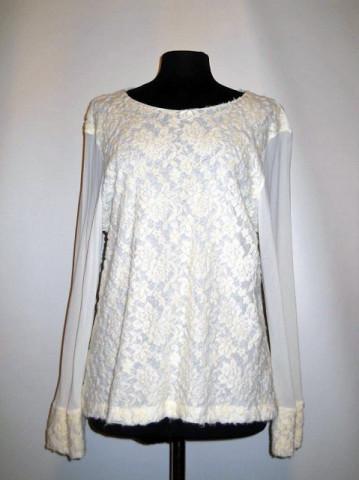 Bluza retro flori in relief anii '90