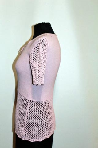 Bluza tricotata lila anii '70