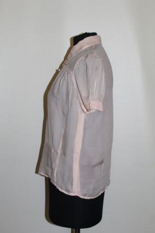 Camasa din matase naturala roz anii '30