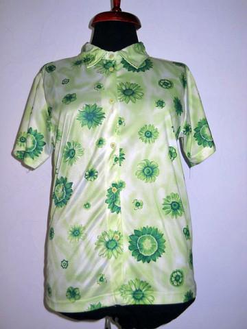 Camasa flori verzi retro anii '70 – '80