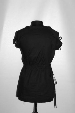 Cămașă neagră din pânză repro anii 70