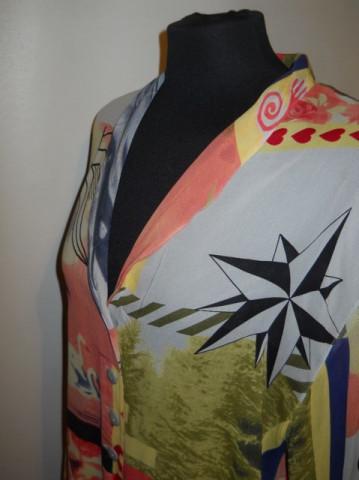 Camasa retro print lebede si inimioare anii '80 - '90