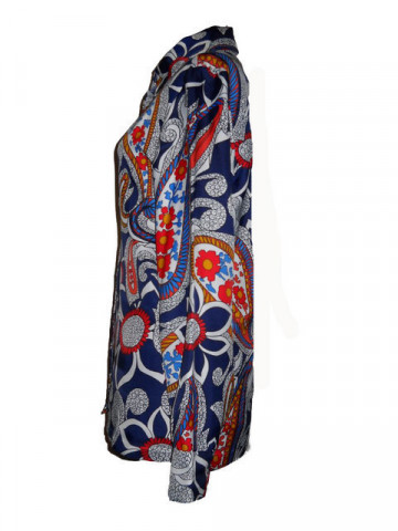 Camasa vintage print floral fantezist anii '60