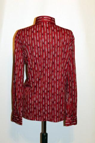 Camasa vintage rosu inchis print abstract anii '70