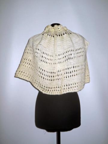 Capa vintage din lana crem anii '60