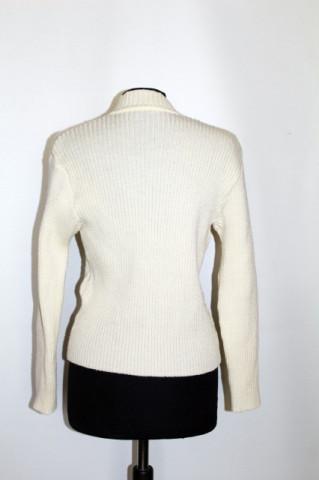 Cardigan ivoire ajurat anii '70