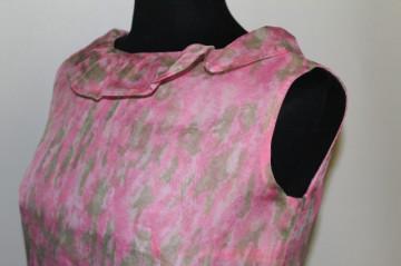 Deux pieces roz din voal anii '50