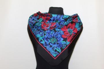 "Esarfa print floral ""Sarah Coventry"" anii '70"