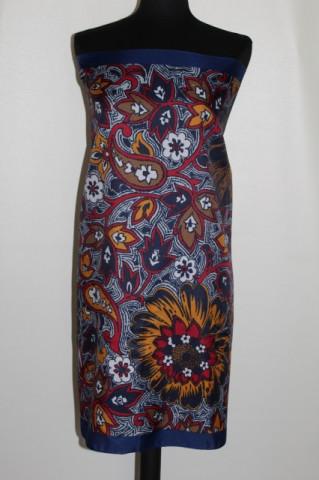 Esarfa print floral stilizat anii '70