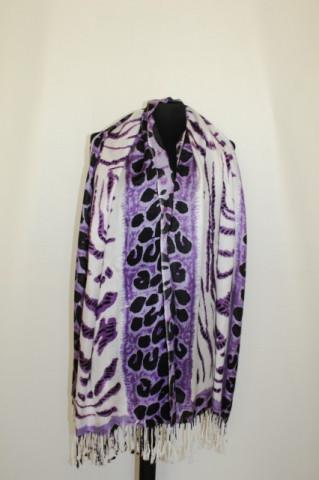 Fular / sal animal print violet anii '90