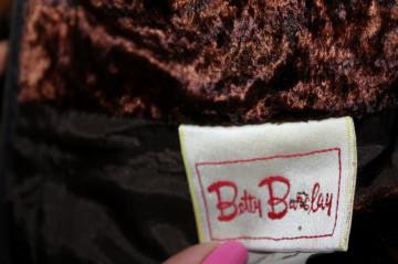 Fustă din catifea maro Betty Barclay anii 80 - 90